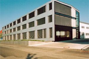 Neubau Verwaltungsgebäude, Neubau Musterbauhalle