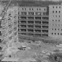 Wohnungsbau im Stadteil Gesundbrunnen in Bautzen (ungefähr in den 70er Jahren)