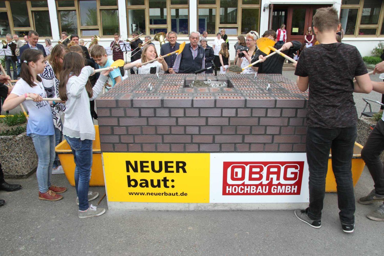 feierliche Grundsteinlegung am Neubau des Evangelisches Zinzendorf-Gymnasium 02