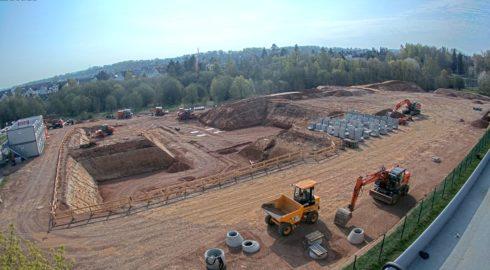 Großes Baufeld in Chemnitz nimmt Konturen an