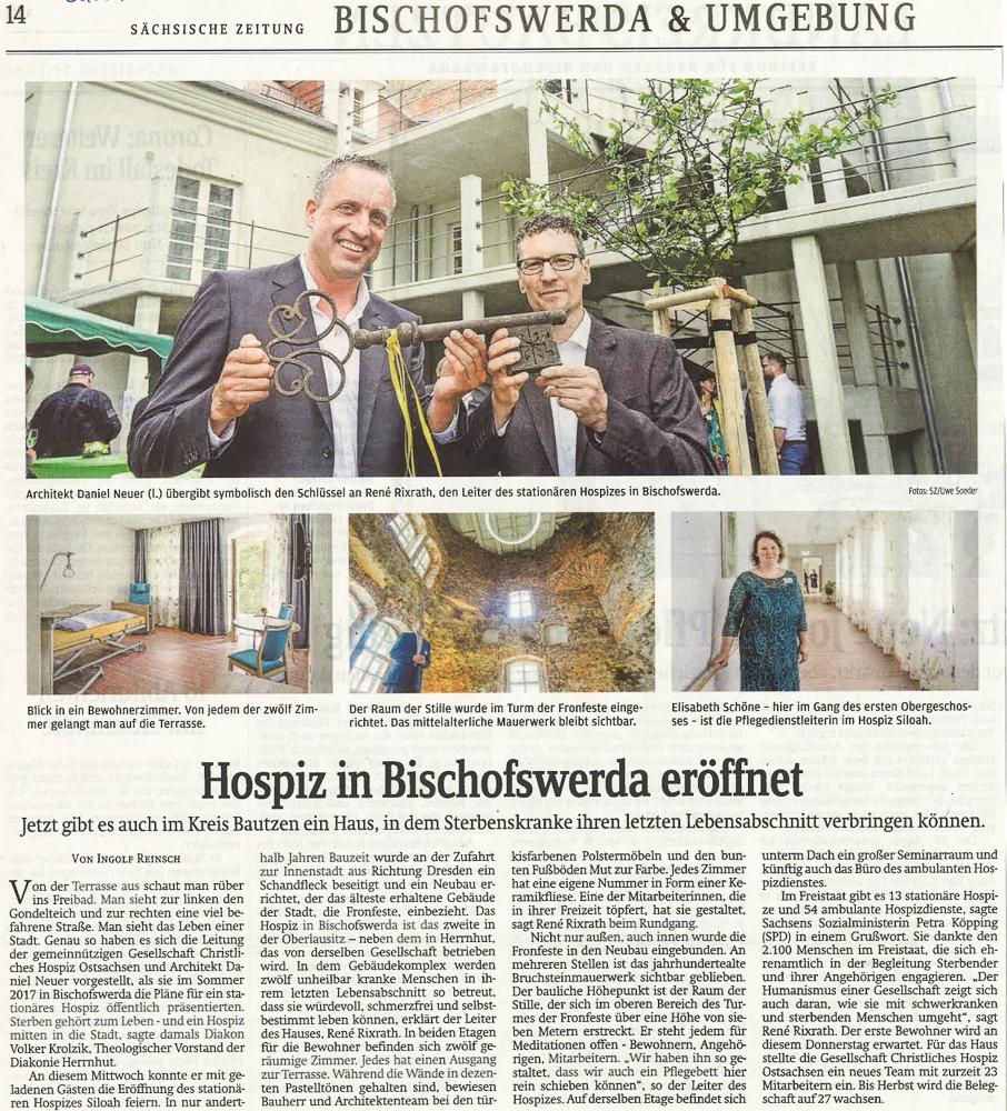 Hospiz in Bischofswerda eröffnet