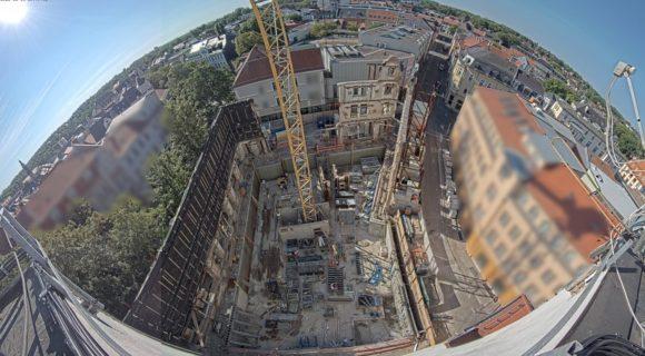 Webcam zeigt den Hotelneubau Hotelschillerhof in Weimar