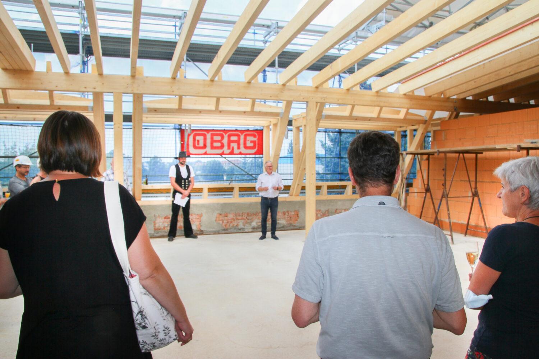 Richtfest am neuen Schulungszentrum der Sachsen Energie (SAE)
